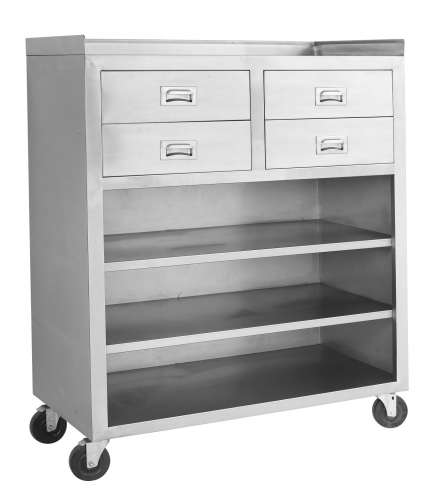 Mobile Cabinet With Drawers & Shelves